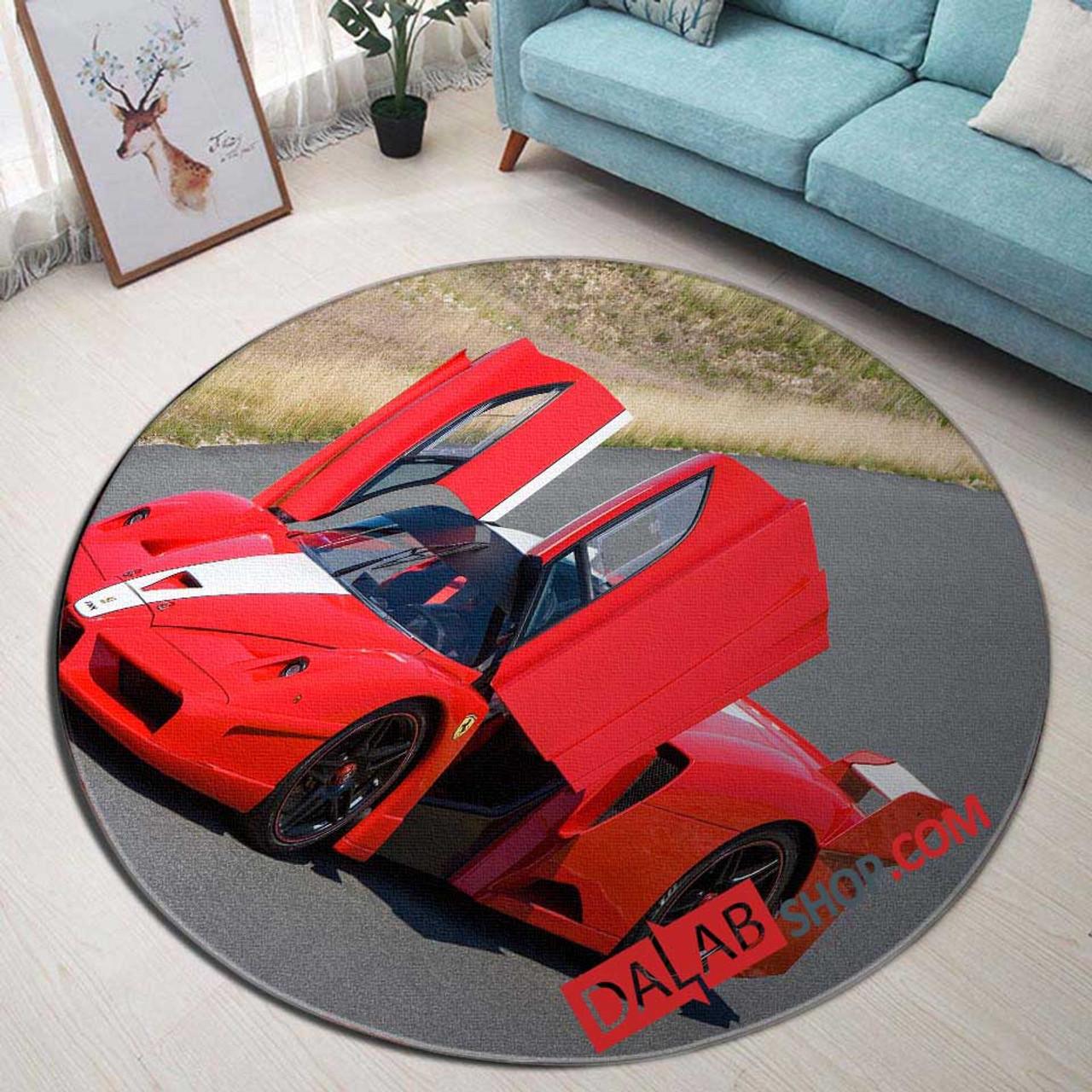 Super Car 2005 Ferrari Fxx N 3d Customized Personalized Round Carpet Rug