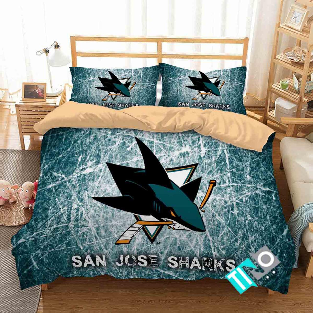 Order This Nhl San Jose Sharks 2 Logo 3d Personalized Customized Bedding Sets Duvet Cover Bedroom Set Bedset Bedlinen N Now