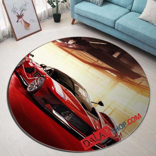 Super Car 2005 Ferrari Fxx V 3d Customized Personalized Round Carpet Rug