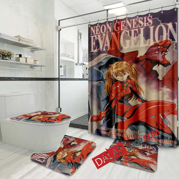 Netflix Movie The End of Evangelion d 3D Customized Personalized Bathroom Sets