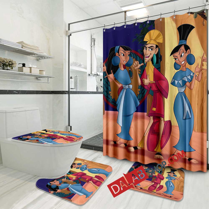 Movie Kronk's New Groove d 3D Customized Personalized Bathroom Sets