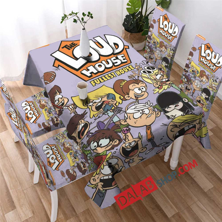 Cartoon Movies The Loud House d copy 3D Customized Personalized Table Sets
