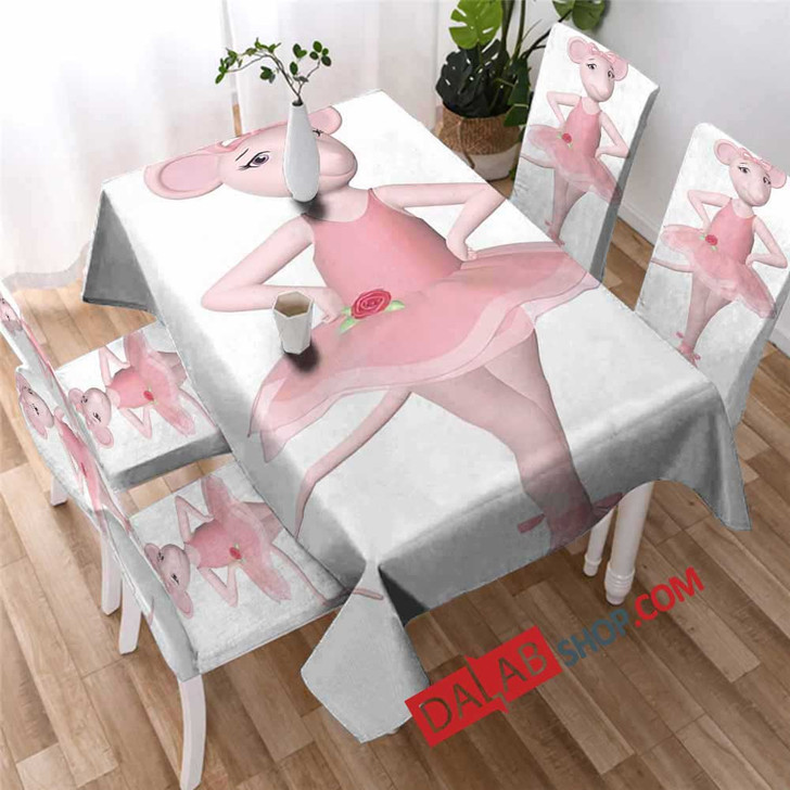 Cartoon Movies Angelina Ballerina D 3D Customized Personalized Table Sets