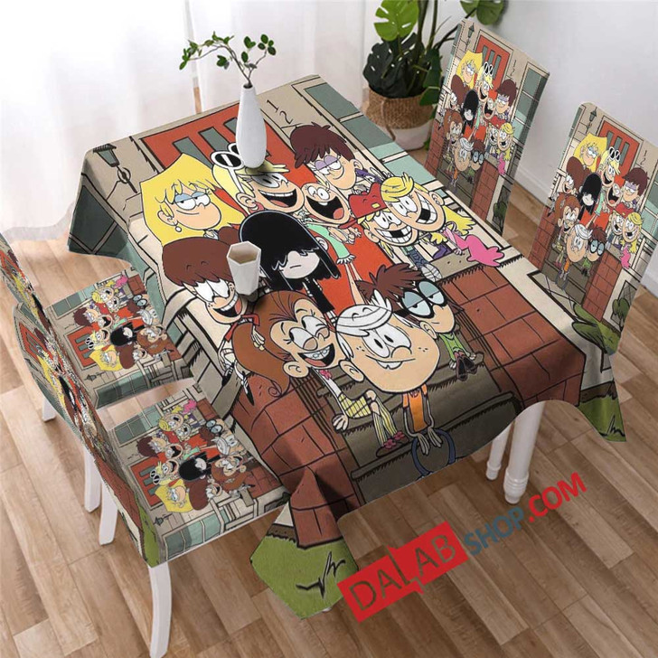 Cartoon Movies The Loud House v copy 3D Customized Personalized Table Sets