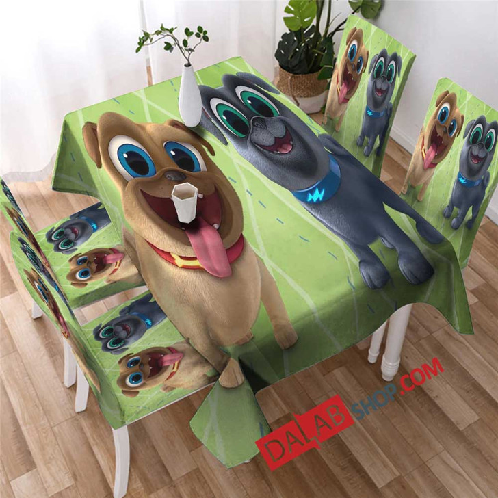Cartoon Movies Puppy Dog Pals N copy 3D Customized Personalized Table Sets