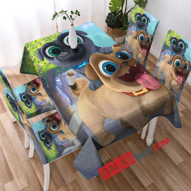 Cartoon Movies Puppy Dog Pals D copy 3D Customized Personalized Table Sets