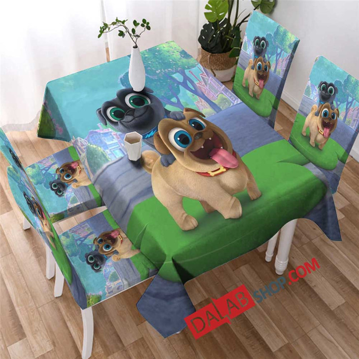 Cartoon Movies Puppy Dog Pals V copy 3D Customized Personalized Table Sets