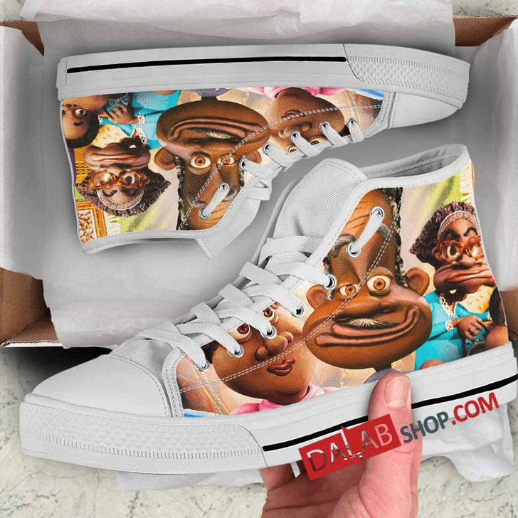 Cartoon Movies The PJs N 3D Customized Personalized high top shoes