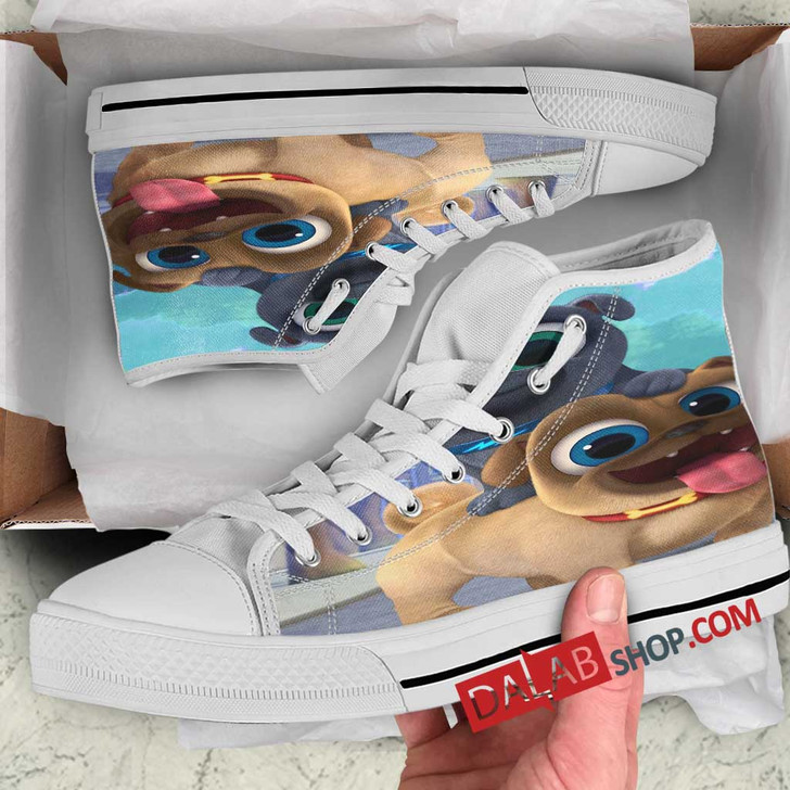 Cartoon Movies Puppy Dog Pals D 3D Customized Personalized high top shoes