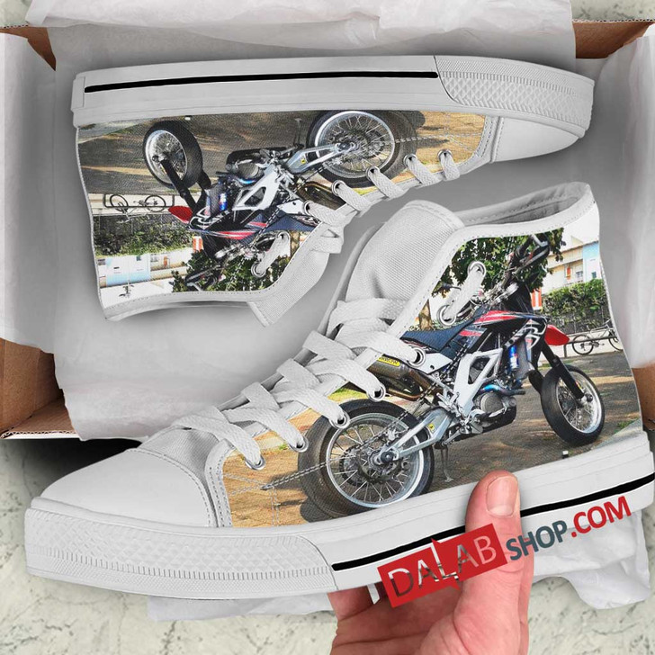 Super Motor Aprilia SXV550 n 3D Customized Personalized high top shoes