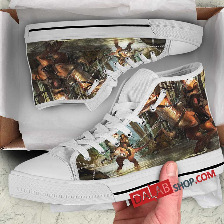 Cartoon Movies Dino-Riders N 3D Customized Personalized high top shoes