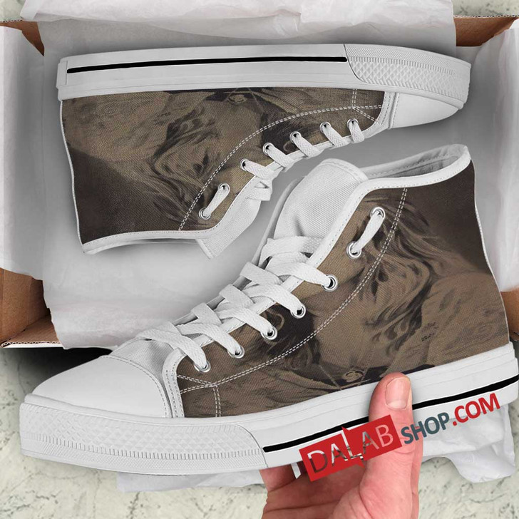 Musical Artists '80s Stevie Nicks 2D 3D Customized Personalized high top shoes
