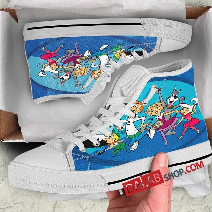 Cartoon Movies The Jetsons N 3D Customized Personalized high top shoes