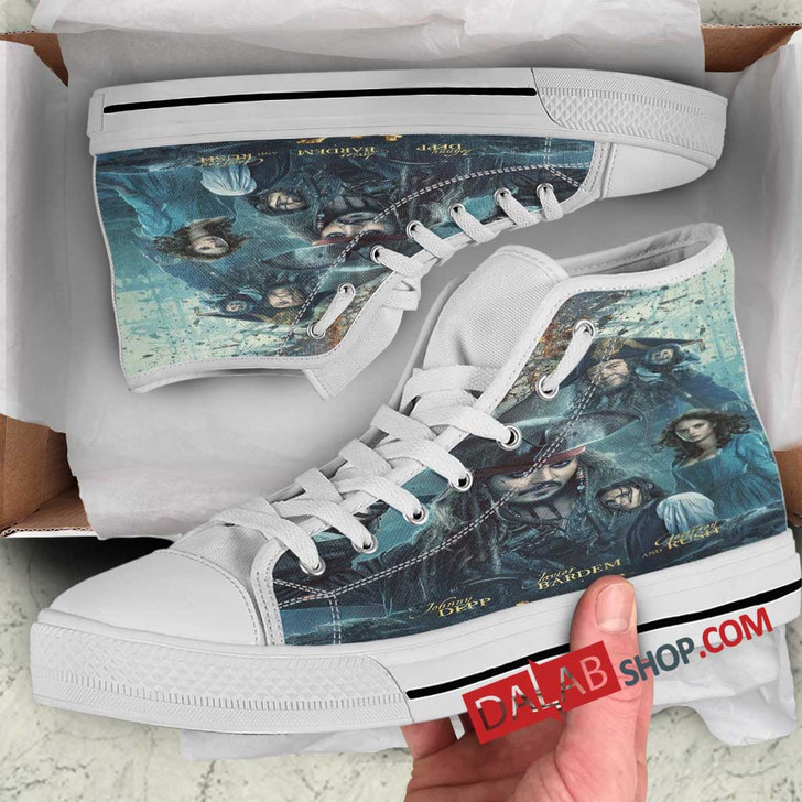 Disney Movies Pirates of the Caribbean Dead Men Tell No Tales (2017)  d 3D Customized Personalized high top shoes