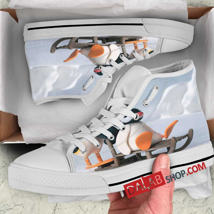 Cartoon Movies Pingu n 3D Customized Personalized high top shoes