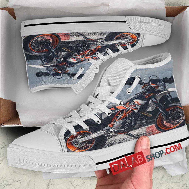 Super Motor KTM 690 SM Supermoto v 3D Customized Personalized high top shoes
