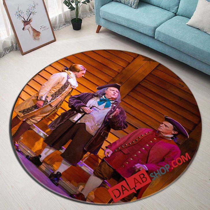 1776 Broadway Show D 3D Customized Personalized Round Area Rug
