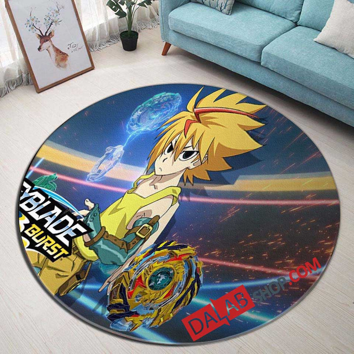 Cartoon Movies Beyblade N 3D Customized Personalized Round Area Rug