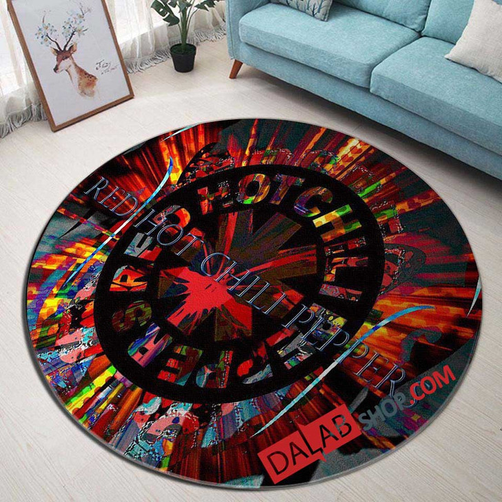 Musical Artists '80s Red Hot Chili Peppers 1V 3D Customized Personalized Round Area Rug