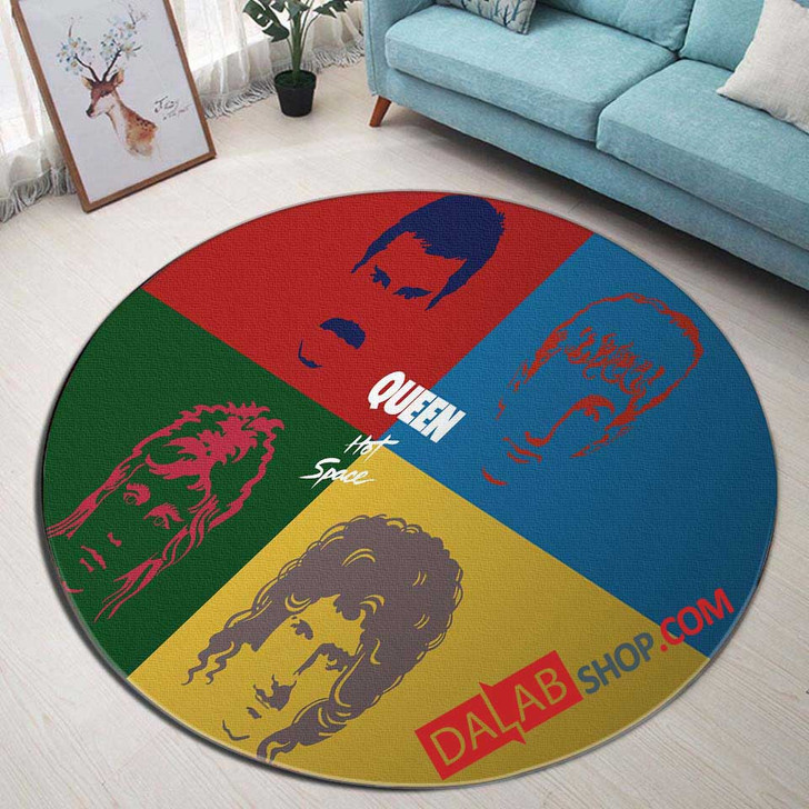 Musical Artists '80s Queen3N 3D Customized Personalized Round Area Rug