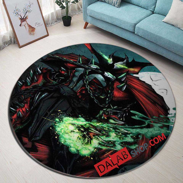 Cartoon Movies Spawn D 3D Customized Personalized Round Area Rug