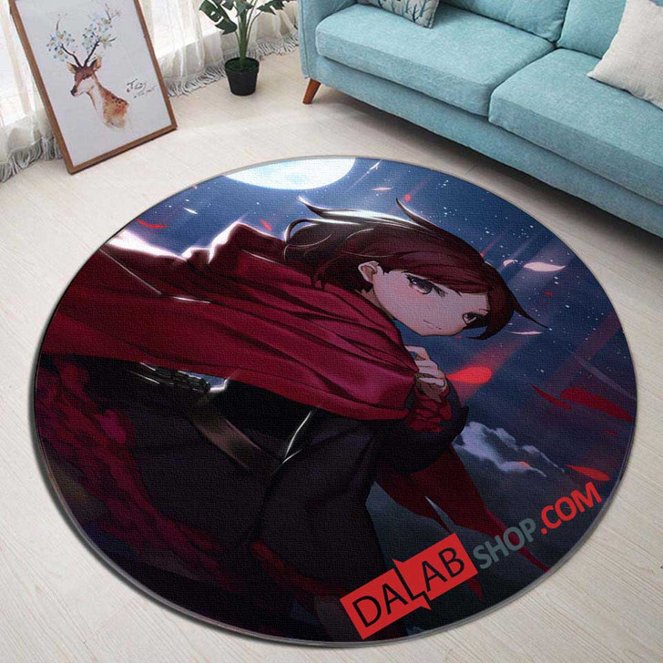 Cartoon Movies RWBY D 3D Customized Personalized Round Area Rug