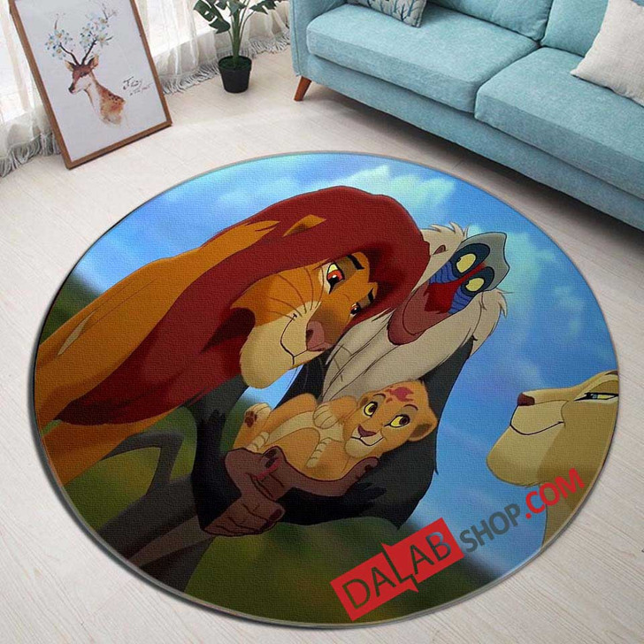 Disney Movies The Lion King 2 Simba's Pride (1998) n 3D Customized Personalized Round Area Rug