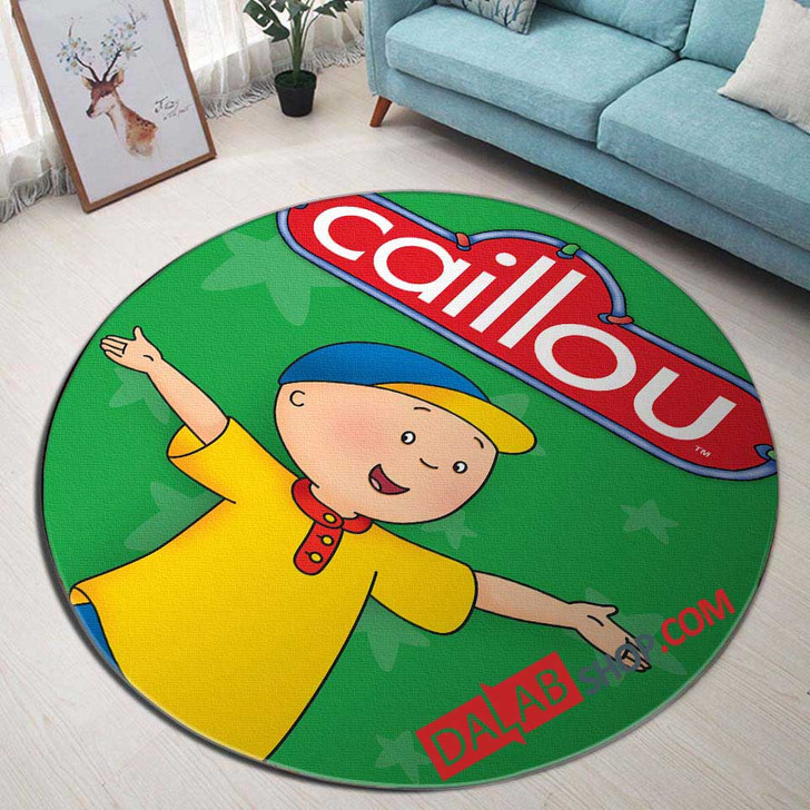 Cartoon Movies Caillou d 3D Customized Personalized Round Area Rug