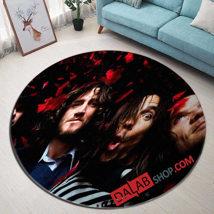 Musical Artists '80s Red Hot Chili Peppers 3N 3D Customized Personalized Round Area Rug
