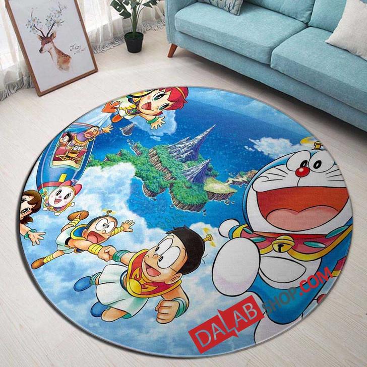 Cartoon Movies Doraemon N 3D Customized Personalized Round Area Rug