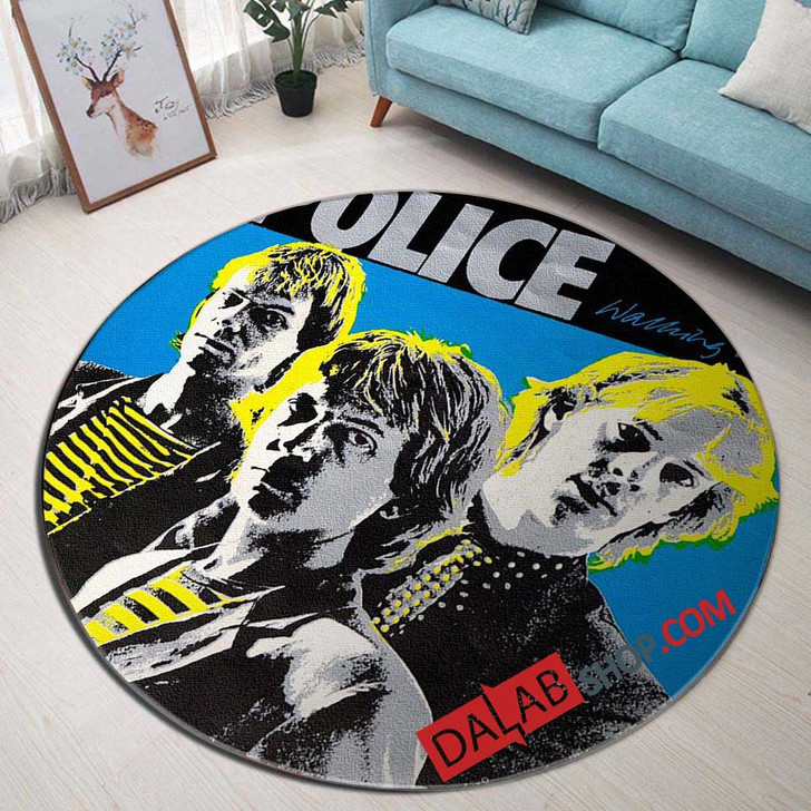 Musical Artists '80s The Police1D 3D Customized Personalized Round Area Rug