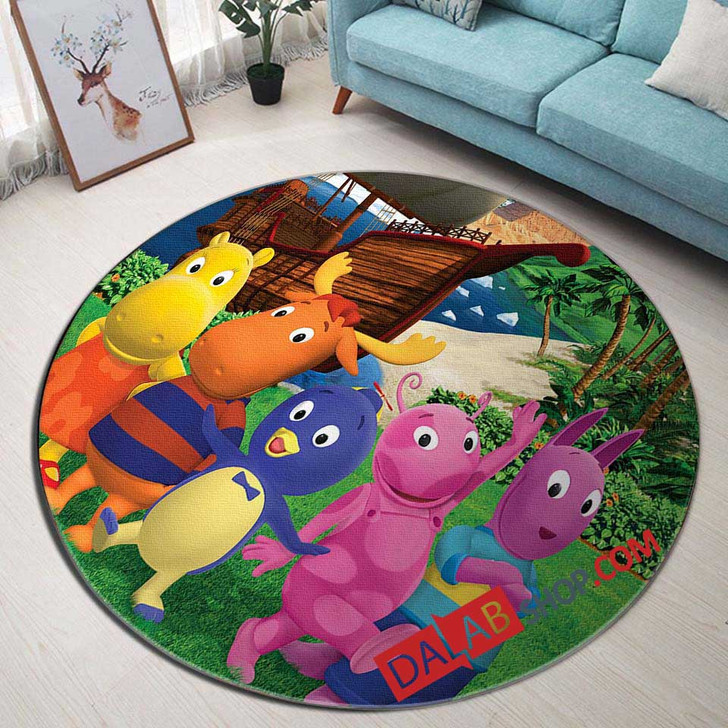 Cartoon Movies The Backyardigans v 3D Customized Personalized Round Area Rug