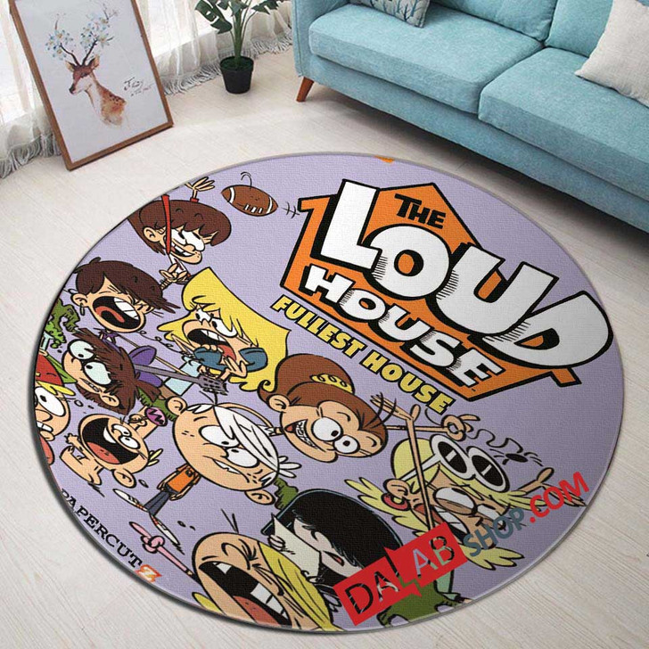 Cartoon Movies The Loud House d 3D Customized Personalized Round Area Rug