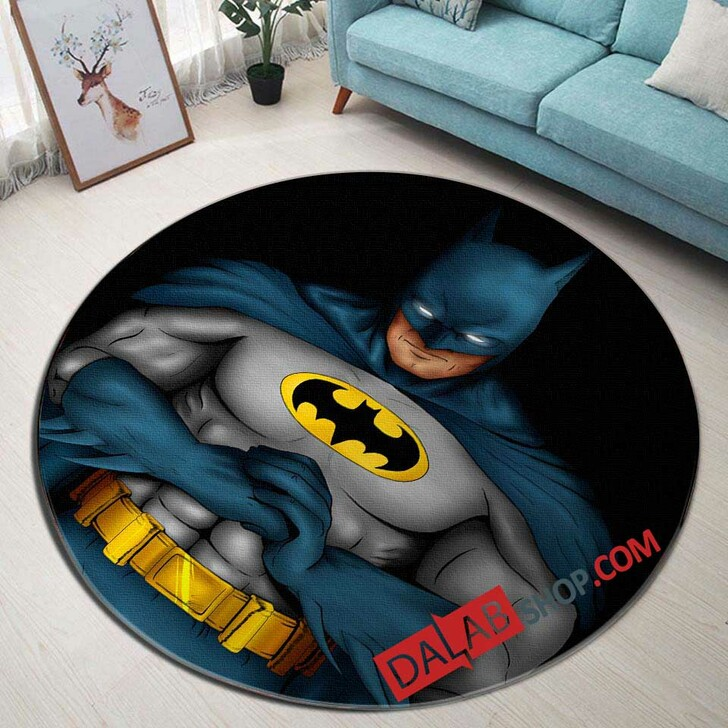 Cartoon Movies The Batman D 3D Customized Personalized Round Area Rug