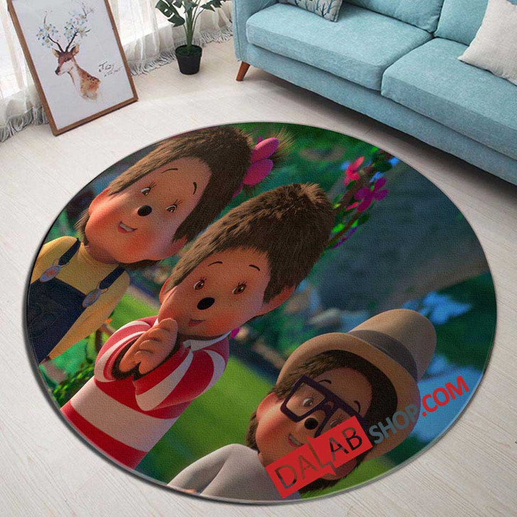 Cartoon Movies Monchhichis N 3D Customized Personalized Round Area Rug