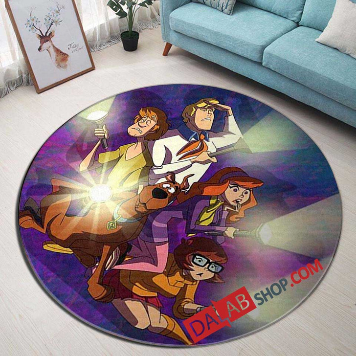 Cartoon Movies Shaggy & Scooby-Doo Get a Clue V 3D Customized Personalized Round Area Rug