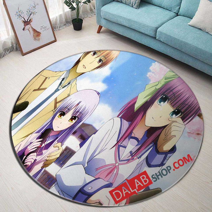 Anime Angel Beats n 3D Customized Personalized Round Area Rug