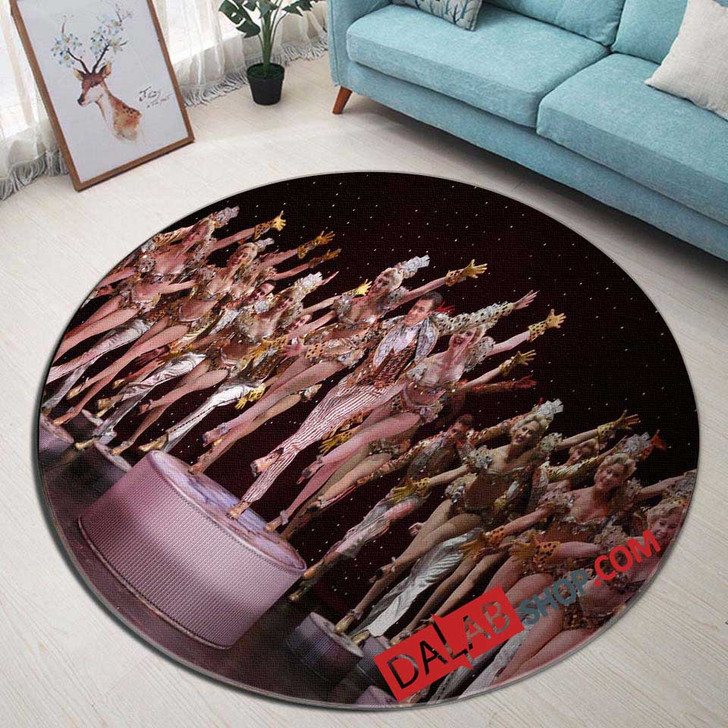42nd Street Broadway Show N 3D Customized Personalized Round Area Rug