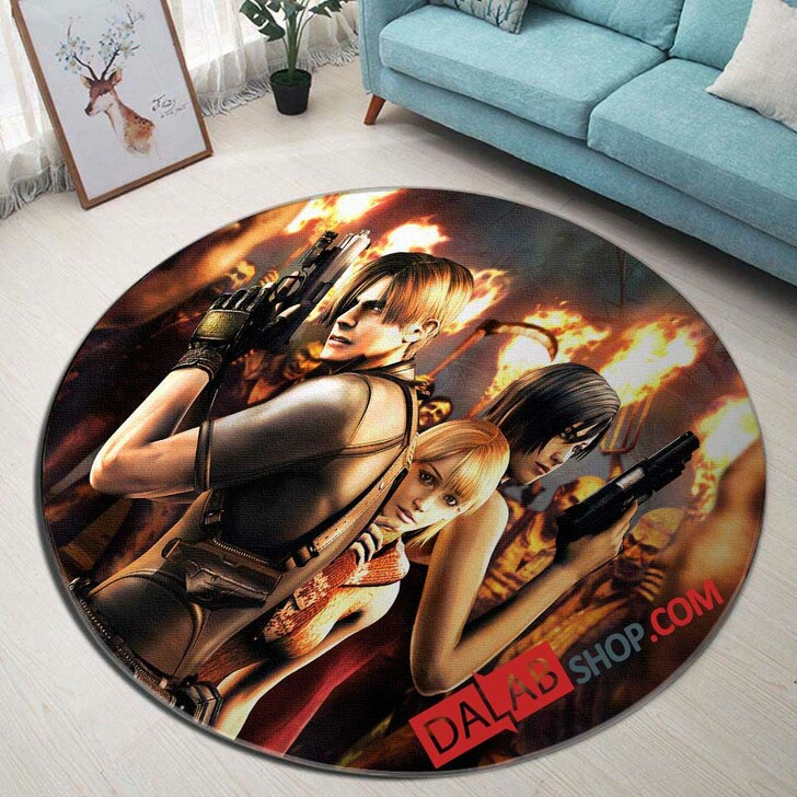 Aggressive Inline PS2 GAME N 3D Customized Personalized Round Area Rug