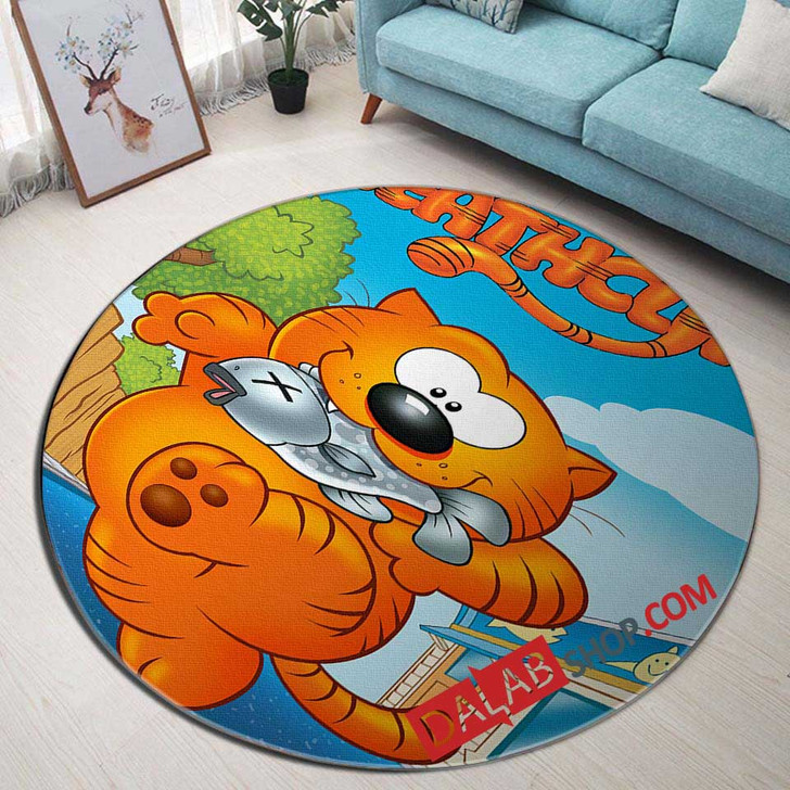 Cartoon Movies Heathcliff D 3D Customized Personalized Round Area Rug