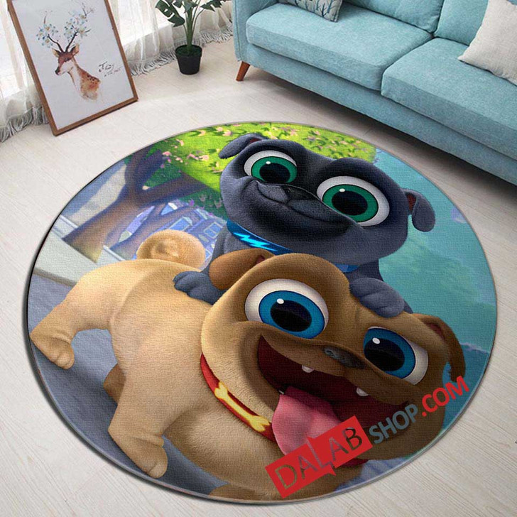 Cartoon Movies Puppy Dog Pals D 3D Customized Personalized Round Area Rug