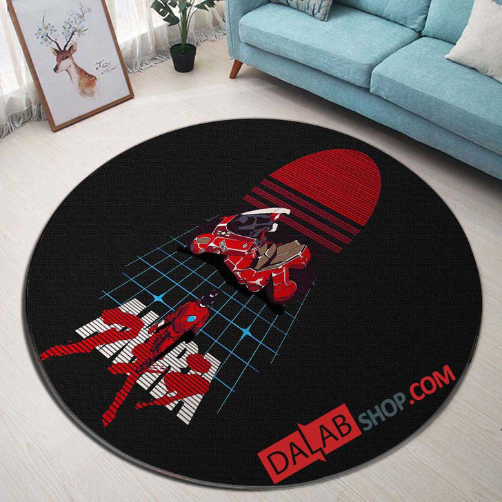 Anime Akira d 3D Customized Personalized Round Area Rug