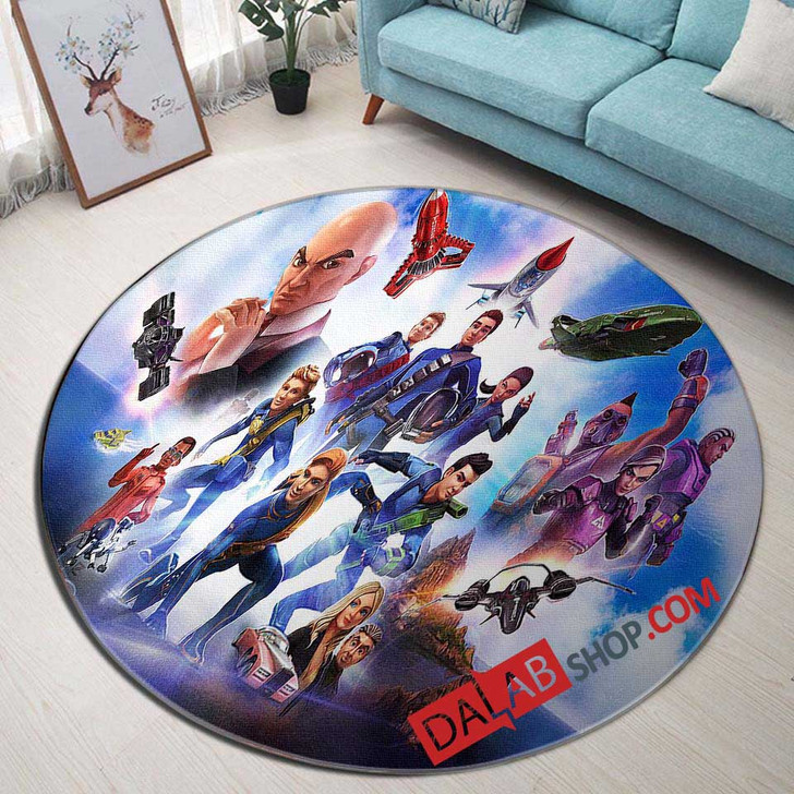 Cartoon Movies Thunderbirds N 3D Customized Personalized Round Area Rug