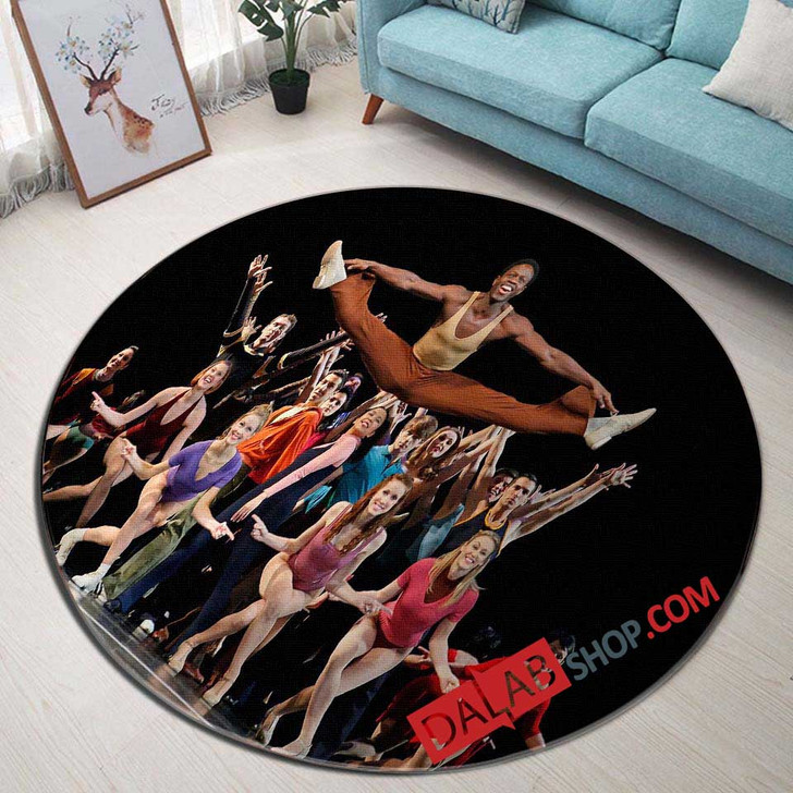 A Chorus Line Broadway Show N 3D Customized Personalized Round Area Rug