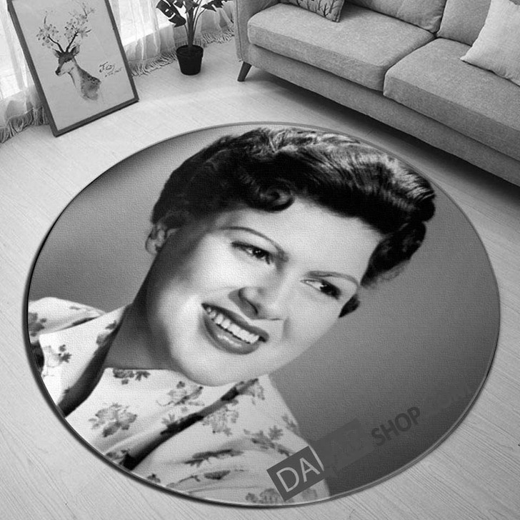 Famous Person Patsy Cline v 3D Customized Personalized Round Area Rug