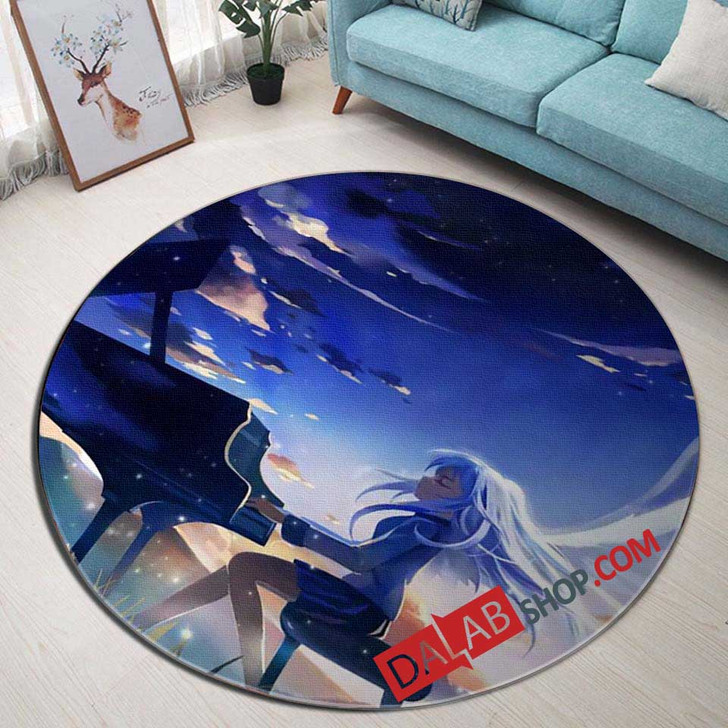 Anime Angel Beats v 3D Customized Personalized Round Area Rug