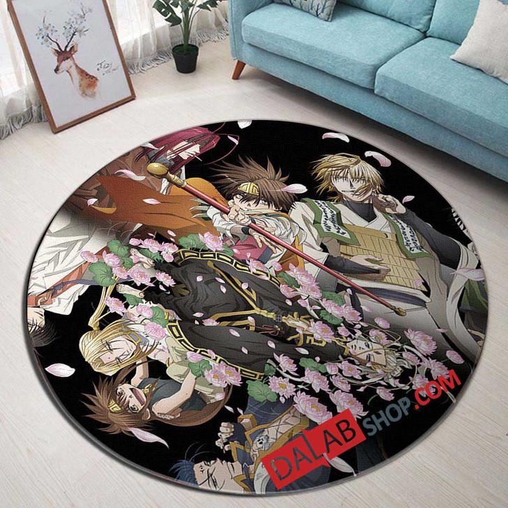 Cartoon Movies Saiyuki D 3D Customized Personalized Round Area Rug