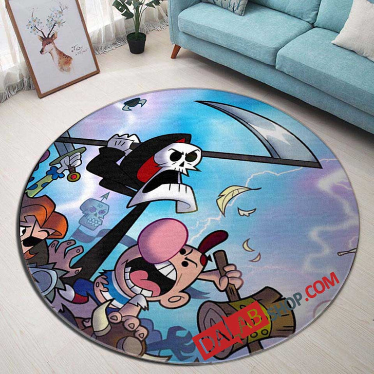 Cartoon Movies The Grim Adventuresf Billy a V 3D Customized Personalized Round Area Rug