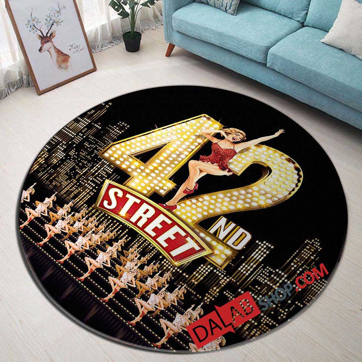 42nd Street Broadway Show D 3D Customized Personalized Round Area Rug