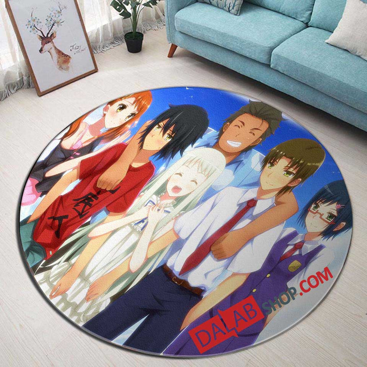 Anime Ano Hi Mita Hana no Namae wo Bokutachi wa Mada Shiranai n 3D Customized Personalized Round Area Rug